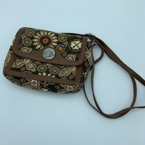 Vera Bradley Crossbody - Canyon with Brown Leather